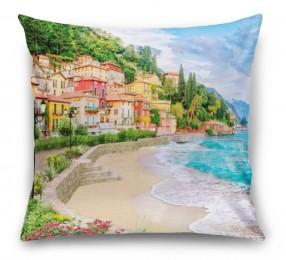 3D Подушка «Прилив на итальянском побережье»