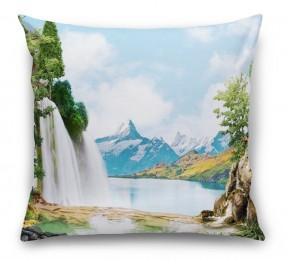 3D Подушка «Девственная природа»