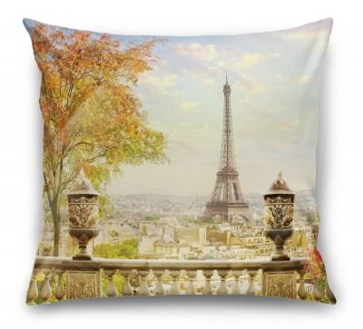 3D Подушка «Фреска Париж»