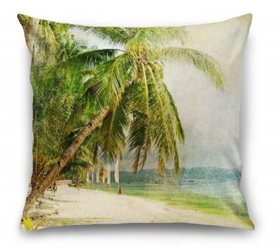3D Подушка «Фреска пляж»