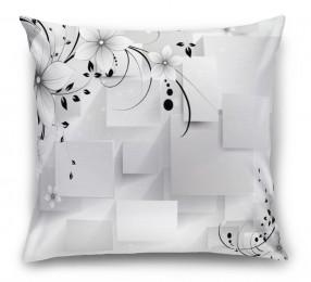 3D Подушка «Монохромная композиция»