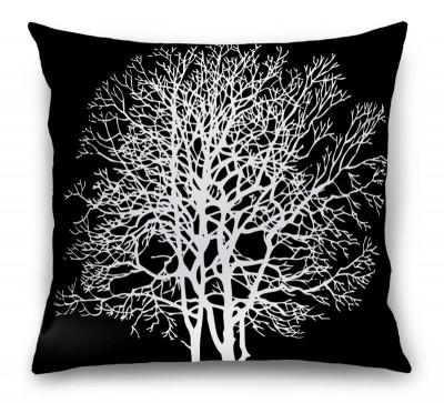 3D Подушка «Белое дерево»