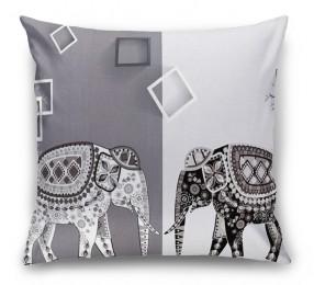 3D Подушка «Слоны в стиле модерн»