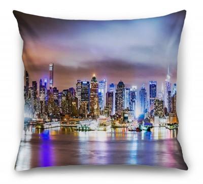 3D Подушка «Ночной город»