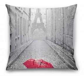 3D Подушка «Дождь в Париже»
