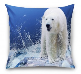 3D Подушка «Белый медведь на льдине»
