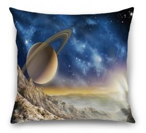 3D Подушка «Огромный астероид с видом на сатурн»