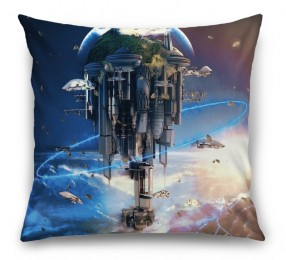3D Подушка «Футуристический космический замок»