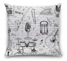3D Подушка «Лофт музыка»