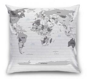 3D Подушка «Карта на стене в стиле лофт»