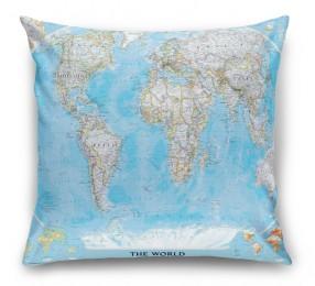 3D Подушка «Политическая карта мира»