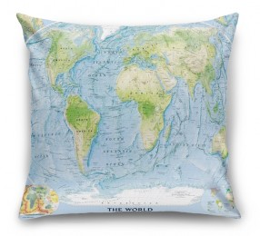 3D Подушка «Географическая карта мира»