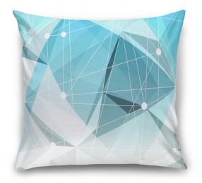3D Подушка «Голубая абстракция»