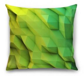 3D Подушка «Зеленые полигоны»