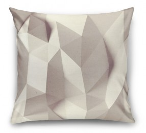 3D Подушка «Светлые полигоны»