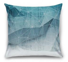3D Подушка «Полигоны с сеткой»