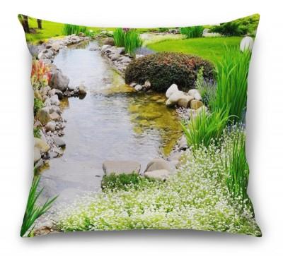 3D Подушка «Ручей в саду»