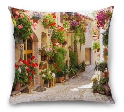 3D Подушка «Цветочная улица»