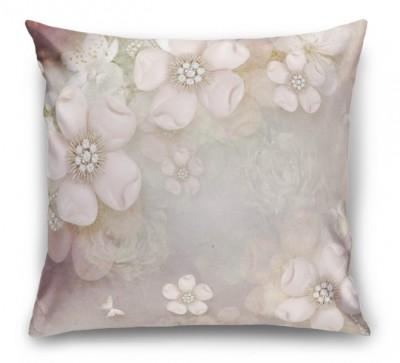 3D Подушка «Ювелирные яблоневые цветы»