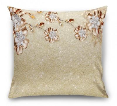 3D Подушка «Ювелирные цветы на золотом песке»