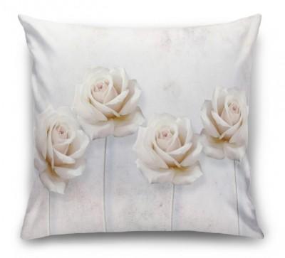 3D Подушка «Прекрасные розы на холсте»