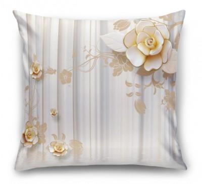 3D Подушка «Объемные керамические цветы над водой»