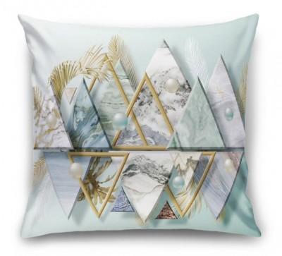 3D Подушка «Жемчужины с мраморными треугольниками»