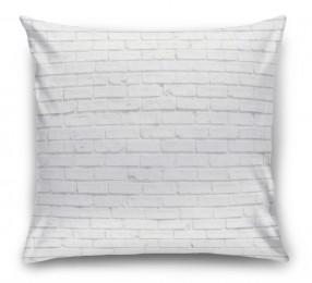 3D Подушка «Белый кирпич»