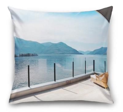 3D Подушка «Терраса с видом на озеро»