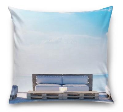 3D Подушка «Терраса в тихой гавани»