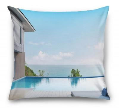 3D Подушка «Терраса с бассейном»