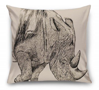 3D Подушка «Носорог»