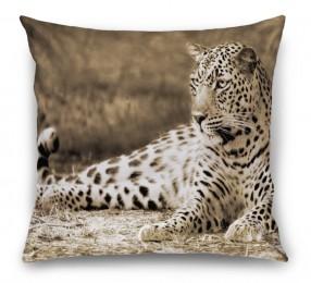 3D Подушка «Леопард сепия»