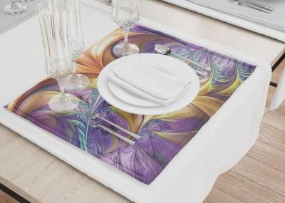 Сервировочные салфетки «Фиолетово-желтая абстракция»
