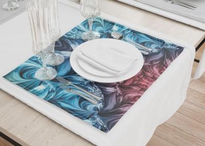Сервировочные салфетки «Симметричная абстракция с лазурным оттенком»