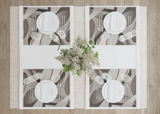 Салфетки для столовых приборов «Удивительная абстракция» вид 4