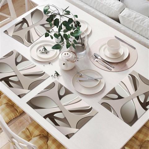 Салфетки для столовых приборов «Удивительная абстракция» вид 6