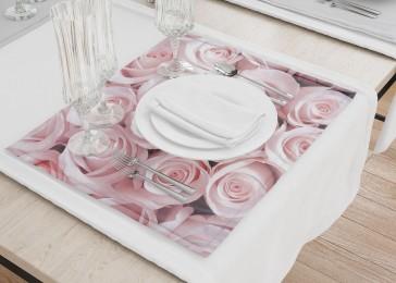 Сервировочные салфетки «Благоухающий букет нежных роз»