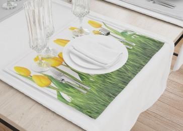 Сервировочные салфетки «Желтые тюльпаны»
