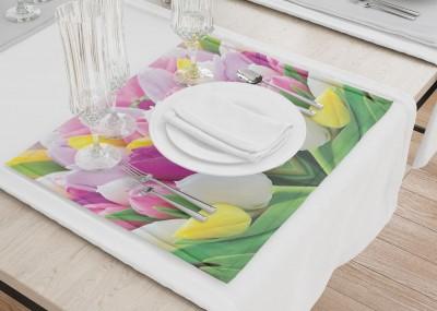 Сервировочные салфетки «Разнообразие тюльпанов»
