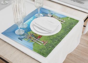 Сервировочные салфетки «Газон под водой»