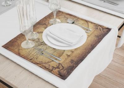 Сервировочные салфетки «Старинная карта мира»