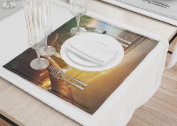 Сервировочные салфетки «Закат под пальмами»
