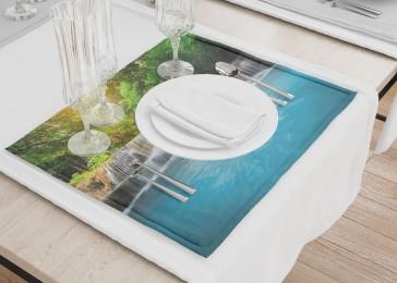 Сервировочные салфетки «Водопад с голубой водой»