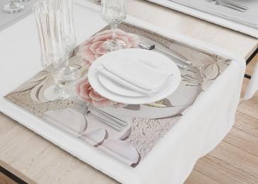 Сервировочные салфетки «Объемная композиция с бутонами роз»