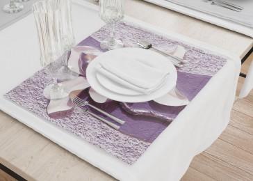 Сервировочные салфетки «Фиолетовые магнолии на рельефном фоне»