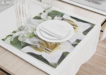Сервировочные салфетки «Зеленые лилии из керамики»