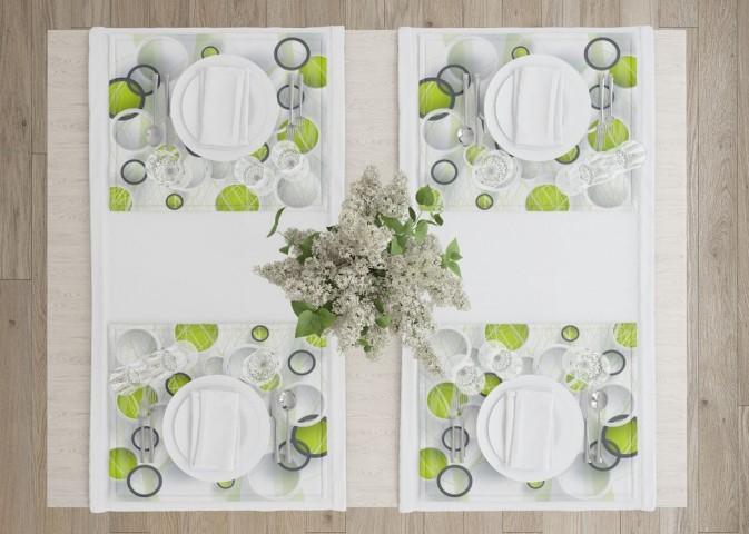 Салфетки для сервировки стола «Объемные зеленые круги» вид 4