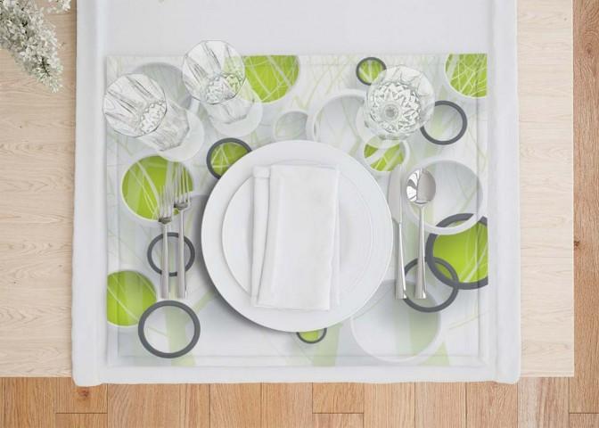 Салфетки для сервировки стола «Объемные зеленые круги» вид 7