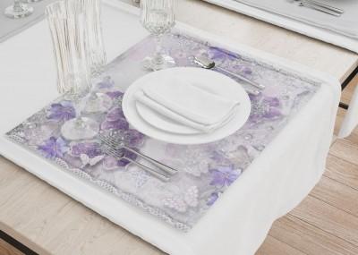 Сервировочные салфетки «Ювелирные фиолетовые цветы»